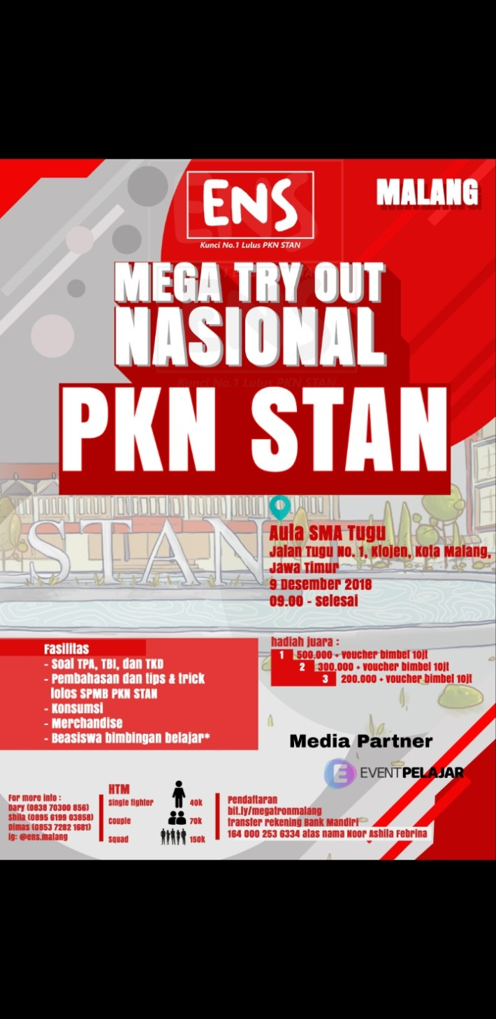 Mega Try Out Nasional ENS Malang 2018
