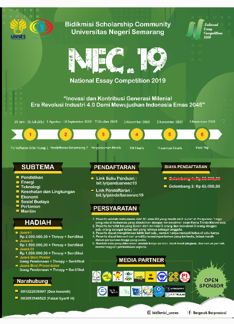 National Essay Competition 2019 UNNES