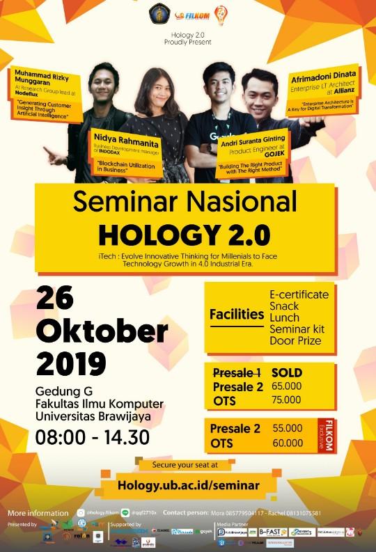 SEMINAR NASIONAL HOLOGY 2.0 | FILKOM UB