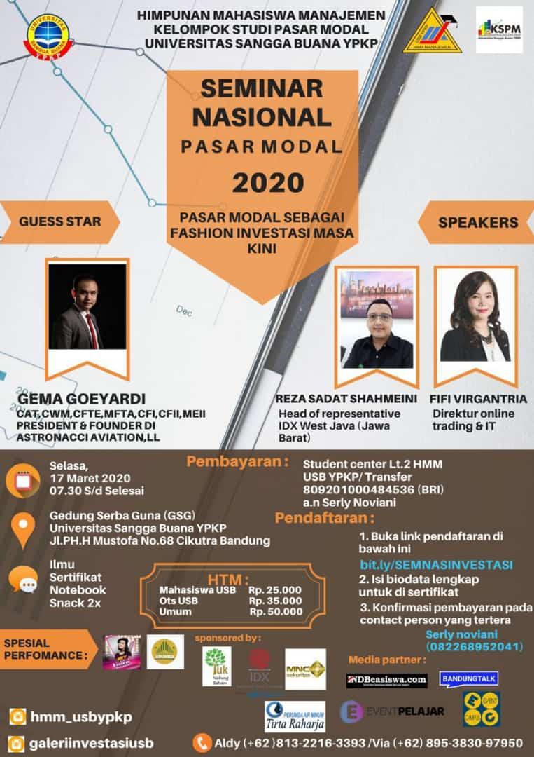 Seminar nasional pasar modal