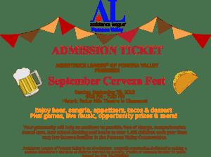 September Cerveza Fest Admission Ticket
