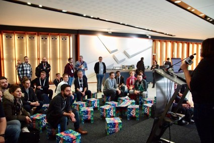 DrupalCon Amsterdam 2019 open stage. Photo by Illek Petr.