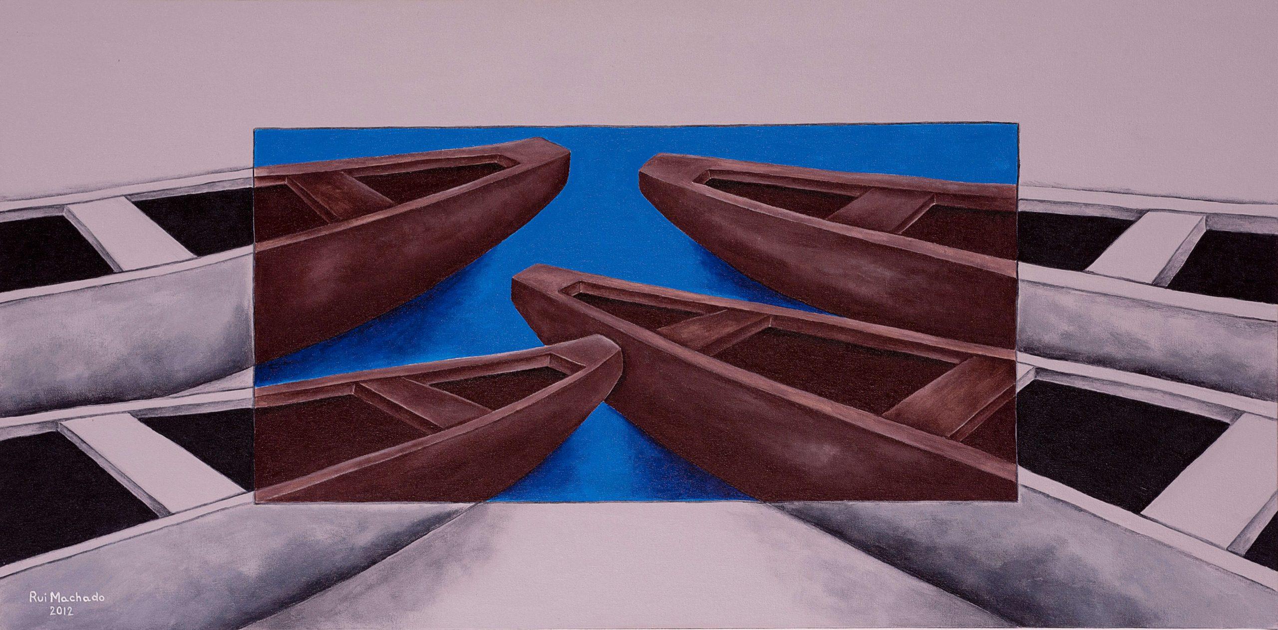 """Série: """"Colorindo a vida"""", (100 x 50 cm), acrílica sobre tela, 2012"""