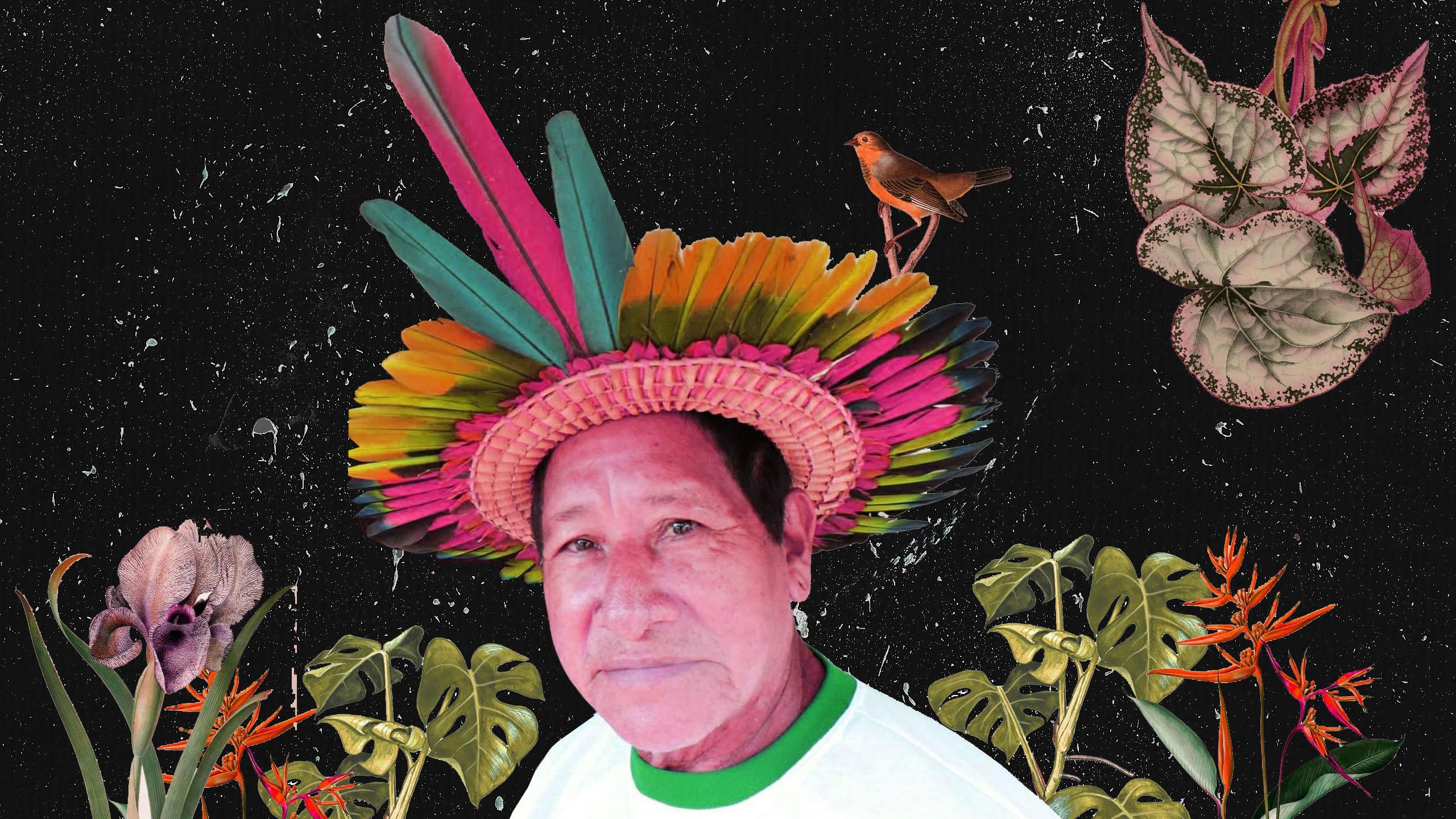 """Procurei apresentar nesta série um pouco das epidemias que sempre afetaram nós, povos indígenas que vivem na região amazônica. E que com a destruição de nosso habitat natural, vem trazendo diversas doenças para os povos da floresta. Desde a invasão, nós convivemos com as doenças vindas do estrangeiro. E até hoje estas doenças nos atigem,  como a Covid-19, e estamos perdendo vários parentes, principalmente anciãos e grandes lideranças como o Cacique Poraquê ASsurini, de TRocará de Tucuruí, que eu conheci em 2015 e ano passado ele se foi junto com a sua esposa. Também trouxe o grande ator Antonio Bolivar que também morreu de Covid 19, ator principal do filme """"O abraço da serpente"""". Que aqui faço referência aos nossos grandes xamãs, que como diz Davi Kopenawa, quando a Amazônia sucumbir à devastação desenfreada e o último xamã morrer, o céu vai cair sobre nós todes e será o fim deste mundo em que vivemos."""