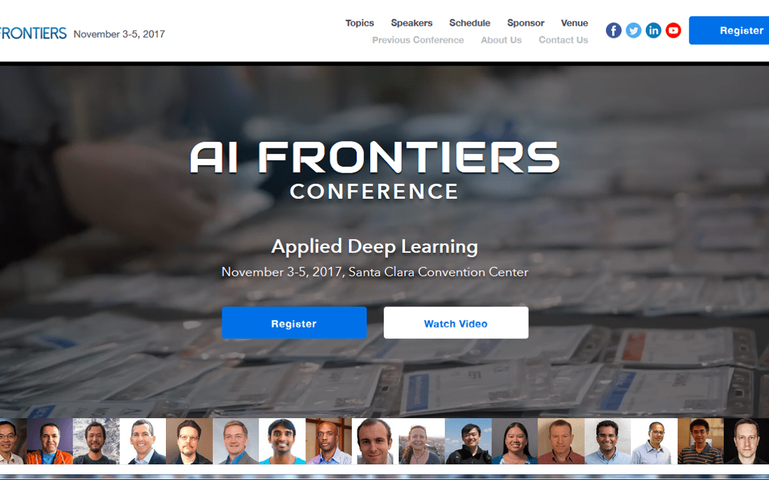 Andrew Ng will give his keynote speech at AI Frontiers Conference