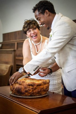 Bread cutting during a ceremony at our Washington DC Wedding Venue