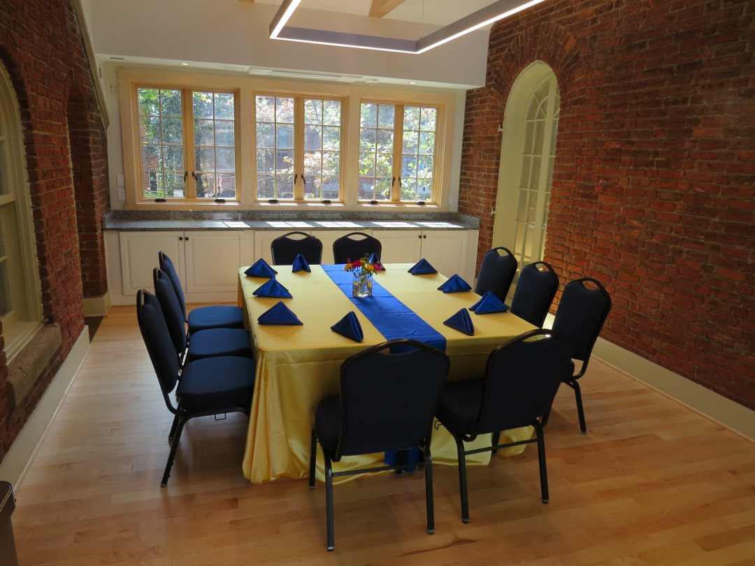The Bridge Room in our event venue ready for a formal event