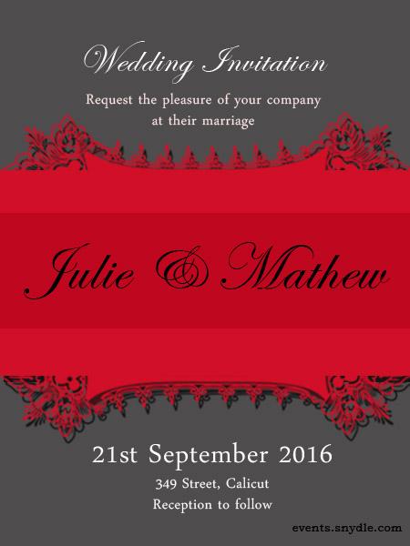 Online Wedding Invitation Cards Friends