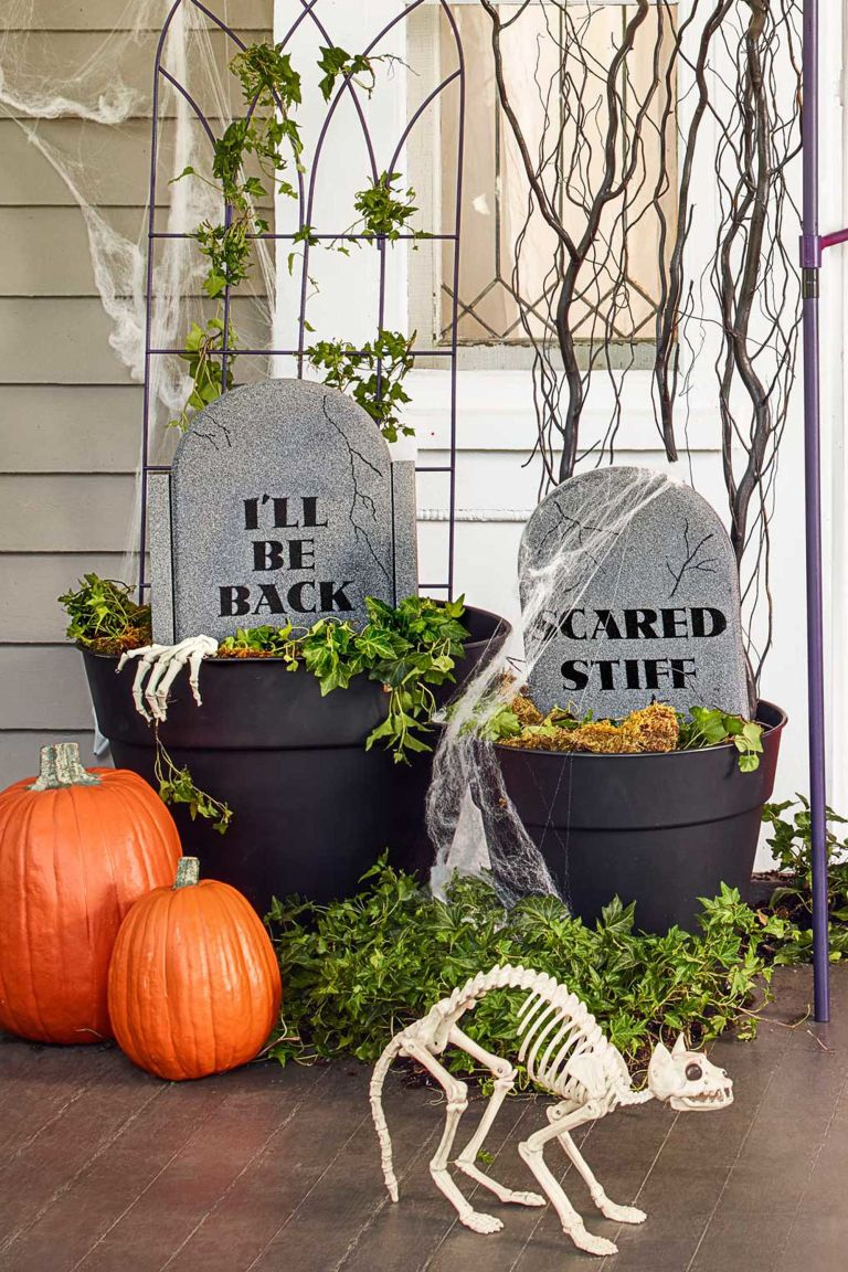 Exquisite Outdoor Halloween Decoration Ideas - Festival ... on Lawn Decorating Ideas  id=48801