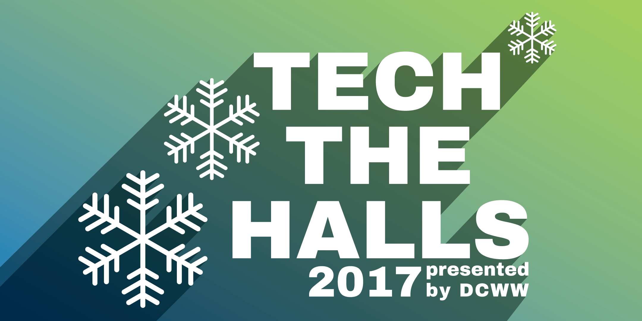 Graphic ad for Tech the Halls 2017