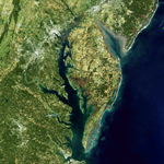 Square image of the Chesapeake Bay states
