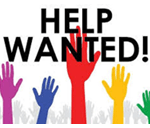 Help Wanted graphic of hands in the air