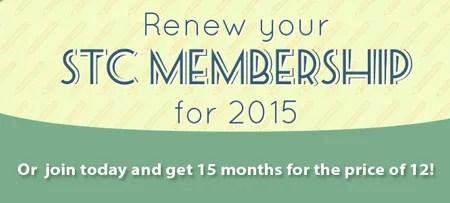 Renew STC membership now