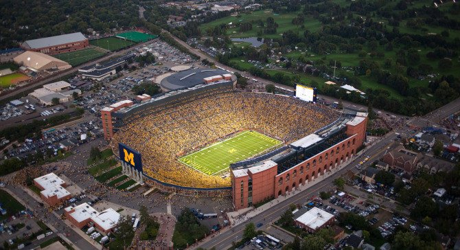 University Michigan Football Stadium Fire