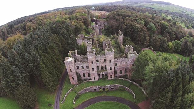loudoun castle aerial view
