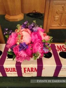 Bride's bouquet up close