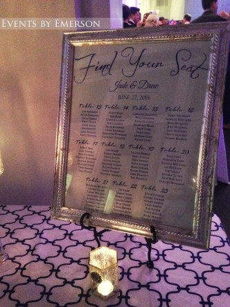 Seating chart and reception ambiance