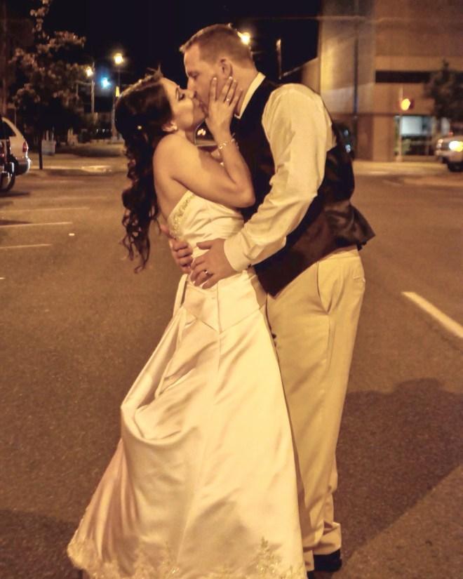Post wedding snapshot in downtown Sherman!