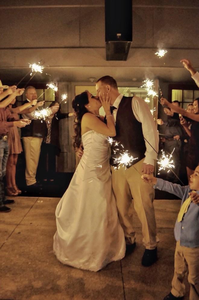 Wedding reception grand exit