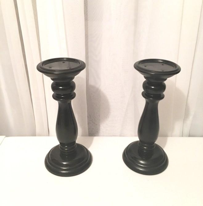Black Candle Holders (set of 2) Image