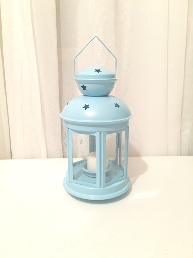 Baby Blue Lantern (set of 2) Image