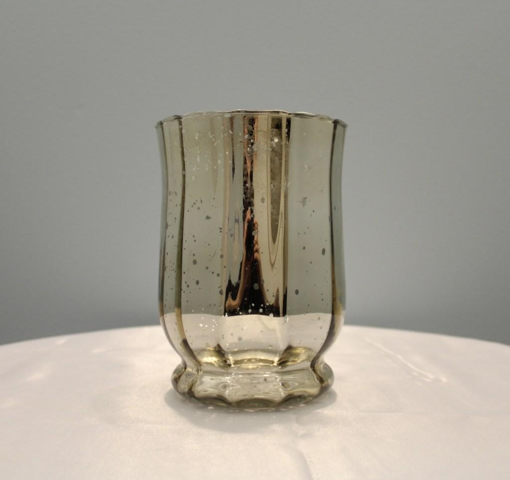 """Mercury Glass Vase 6.5"""" Image"""