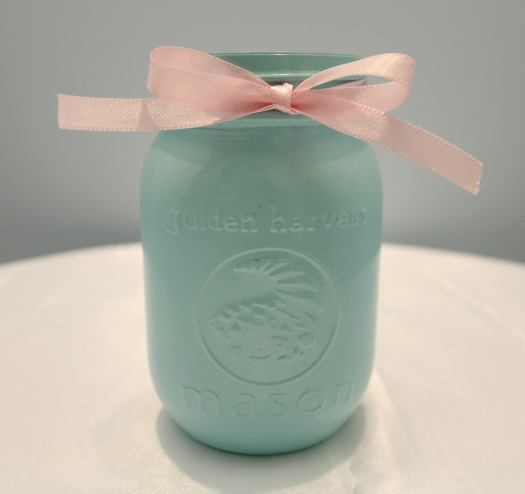 Tiffany Blue Mason Jars Image