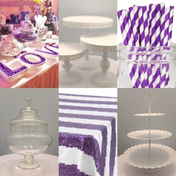 Purple and White Stripes Inspiration
