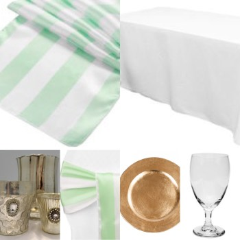 Mint Green Stripes Inspiration from Events by Emerson