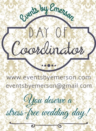 Events by Emerson 'Day of' Coordination services