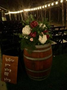 Events by Emerson - Barrel floral arrangements