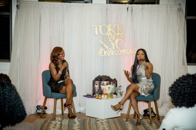 Toke Makinwa and Lilian Ajilore at the New York Book Tour Stop
