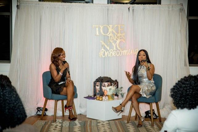 Toke Makinwa and Lilian Ajilore at the New York Book Tour Stop