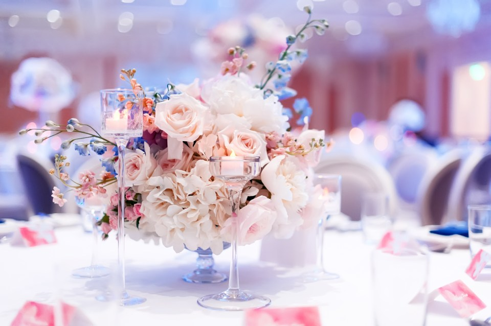 Events by TMA Blue Wedding Design Inspiration