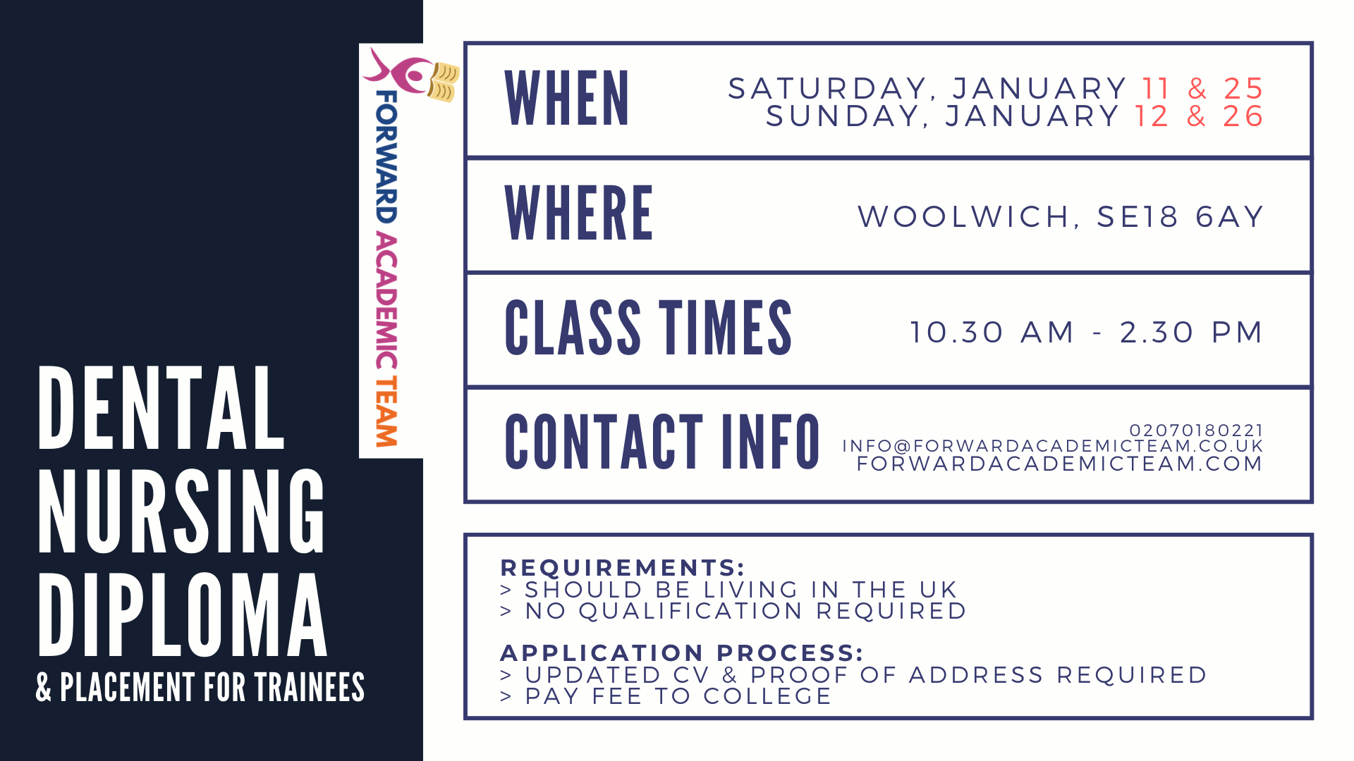 woolwich classes