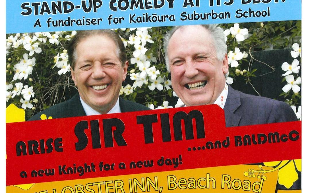 Stand Up Comedy – Arise Sir Tim & BALDMcC – a new knight for a new day!