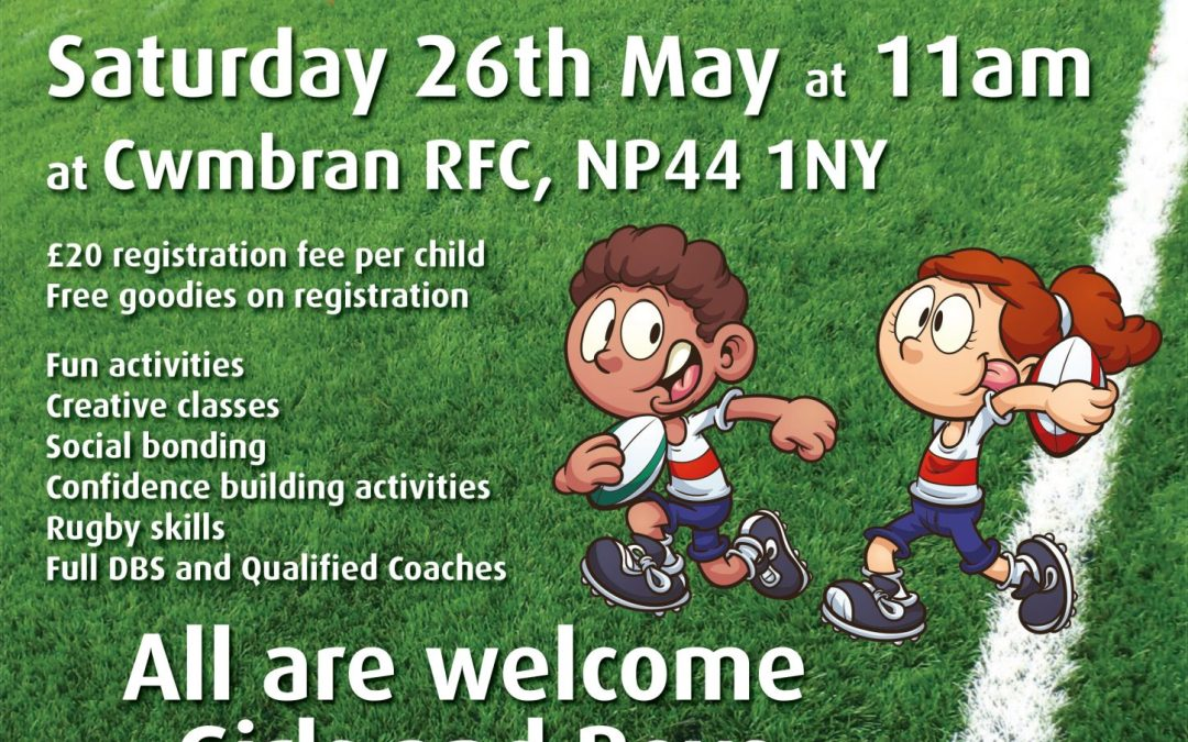 Tiny Crows – Fun sessions for ages 2 – 5 at Cwmbran RFC