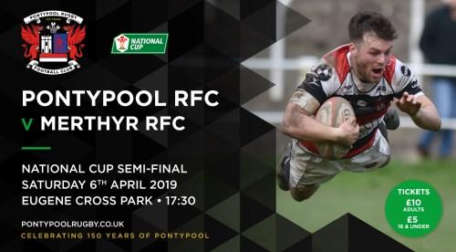 Pontypool RFC V Merthyr RFC