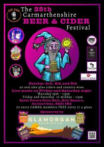 The 25th Carmarthen Beer & Cider Festival @ Saint Peters Civic Hall