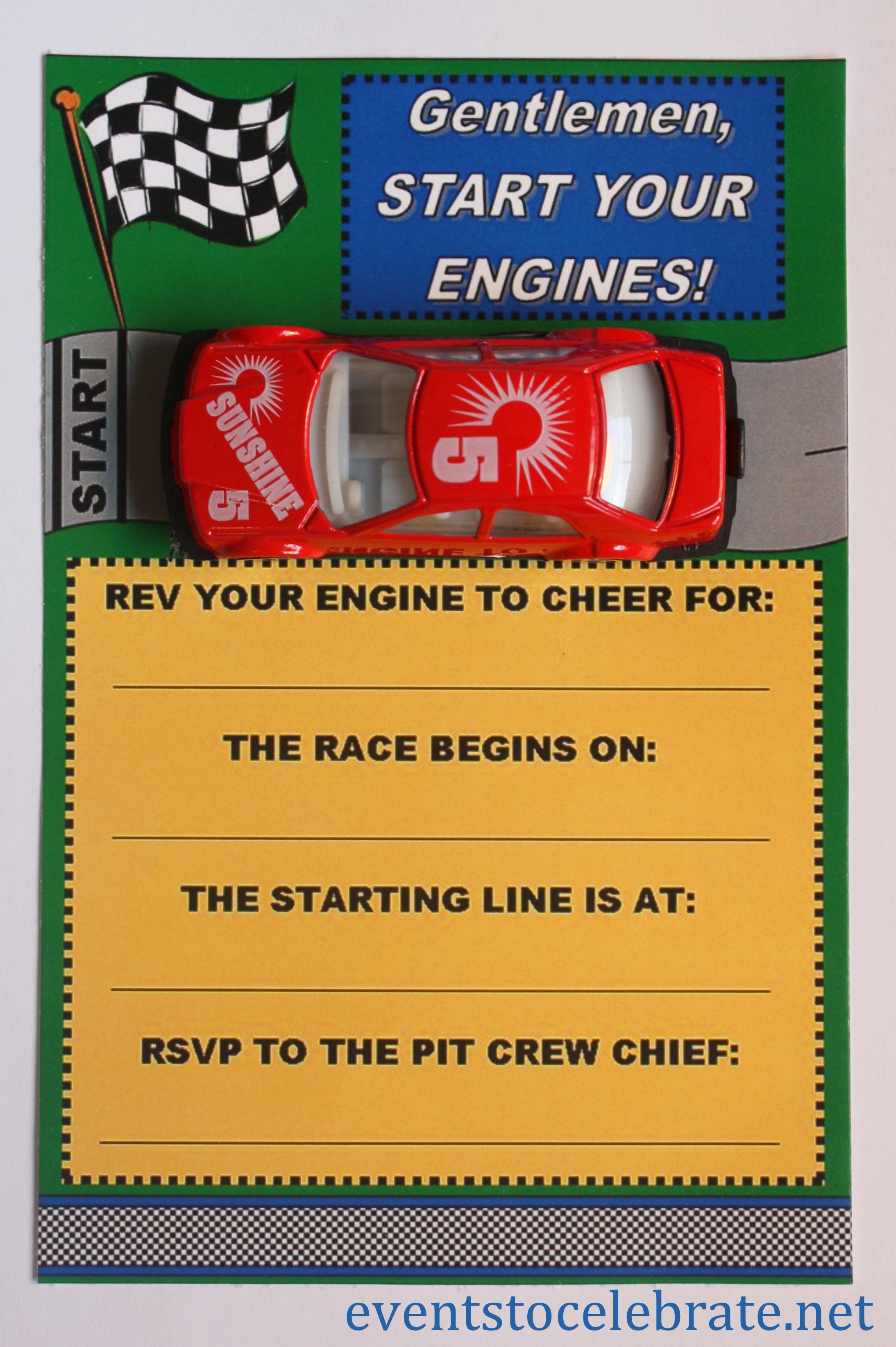 Free Printable Invitations Army Car Racing Amp Swim Party