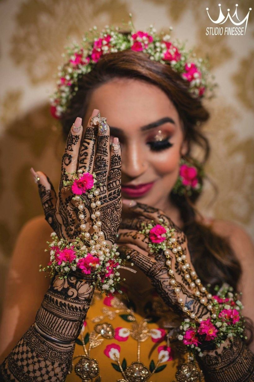bridal mehndi with name