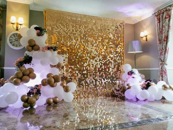 Gold Sequin / Shimmer Backdrop Event Walls
