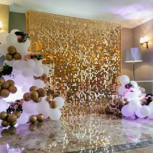 Gold Sequin / Shimmer Backdrop Event Walls