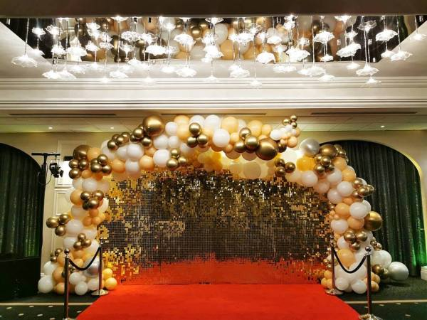 Gold Sequin Shimmer Wall