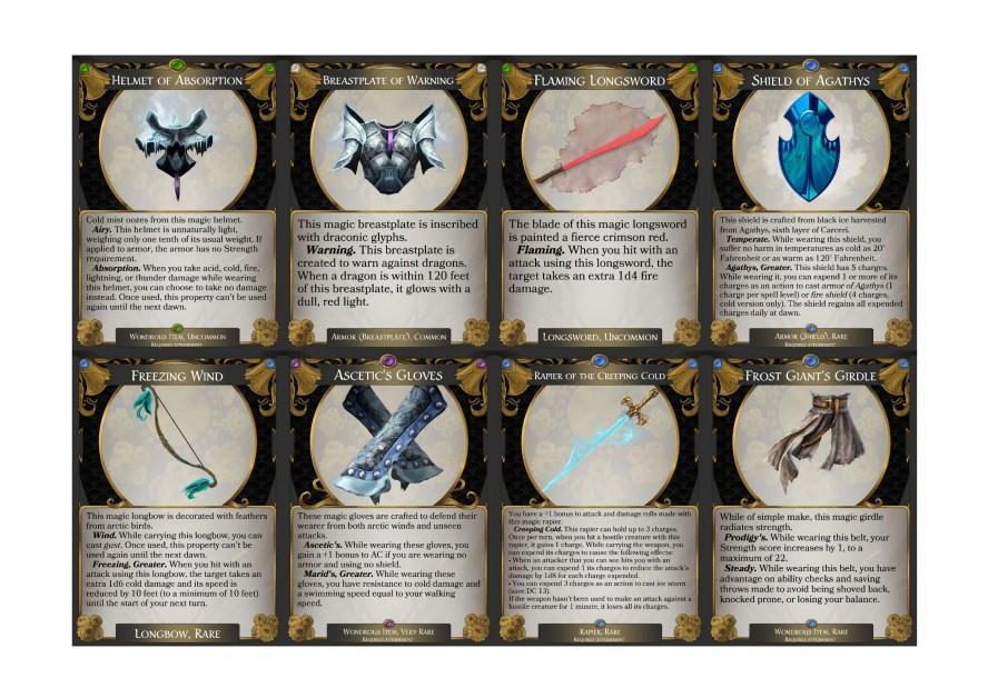 Magic items icewind Dale