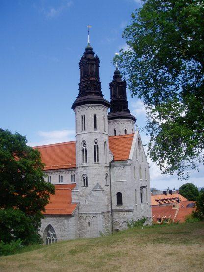 Visbys smukke domkirke som oprindeligt blev bygget til de tyske handlende