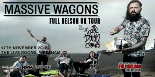 Massive Wagons Gig Flyer