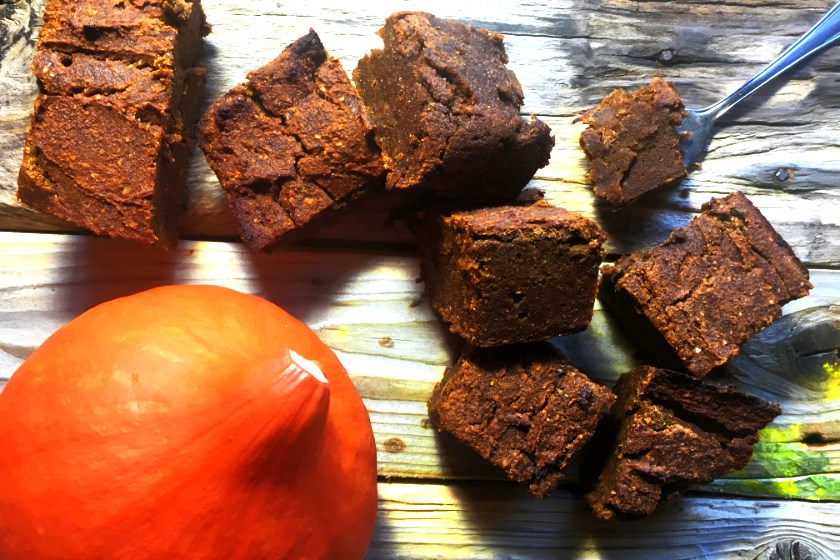 Kürbis Brownies vegan glutenfrei