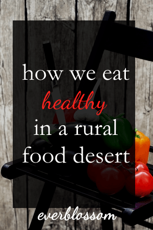 Solutions for eating healthy when food sources are far away.