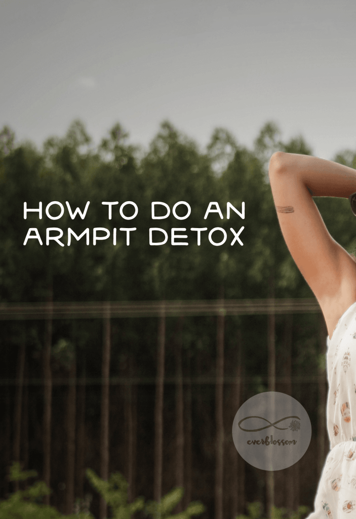 """Woman with caption: """"how to do an armpit detox"""""""